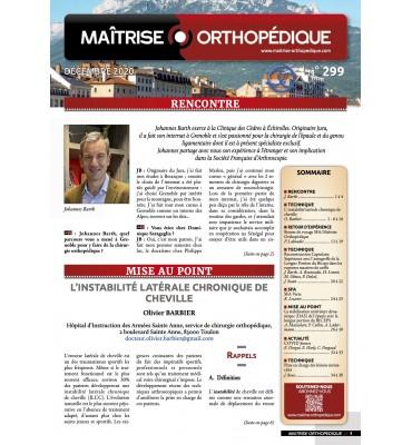 Interview de Johannes Barth dans  le journal Maîtrise Orthopédique